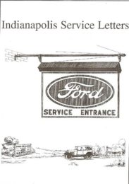 Service Letters: Indianapolis
