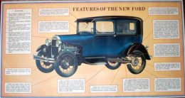 """Poster: """"Features of The New Ford"""""""