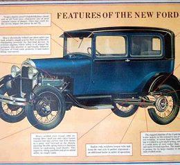 "Poster: ""Features of The New Ford"""