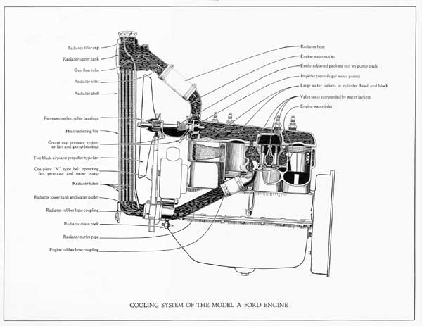 model a ford cooling system diagram  ford  auto parts