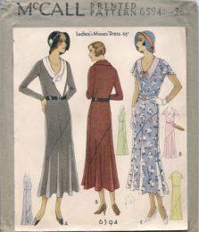 McCall 6594   Ladies' dress   Size 36