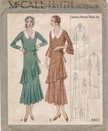 McCall 6632     Ladies' Dress     Size 36