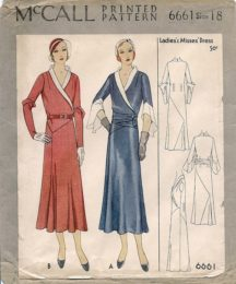 McCall 6661    Misses' Dress     Size 18