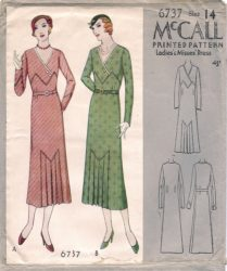 McCall 6737      Misses' Dress   Size 14