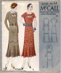 McCall 6746     Misses' Dress     Size 14