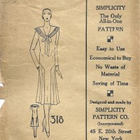 Simplicity 318     Ladies' Dress      Size 42
