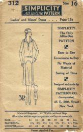Simplicity 312   Misses' Dress     Size 16