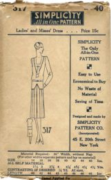 Simplicity 317      Ladies'  Dress       Size 40