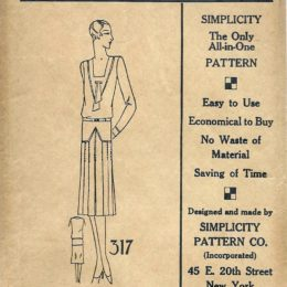 Simplicity 317      Ladies'  Dress       Size 40