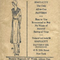 Simplicity 324    Ladies'  Dress      Size 40
