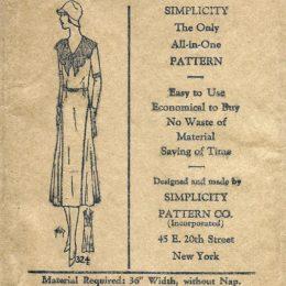 Simplicity 324    Ladies'  Dress      Size 40
